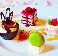 An image showing Assiette of Chocolate Desserts on a plate