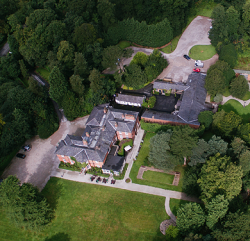 Aerial Shot Photograph of the Bartle Hall Country Hotel