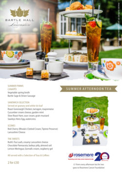 summer- afternoon tea at the bartle hall