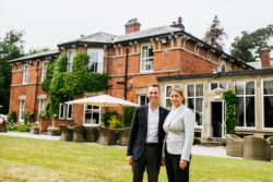Andrew and Nicola Haworth owners of Bartle Hall Country Hotel