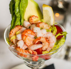 Prawn Cocktail Salad in a champagne glass