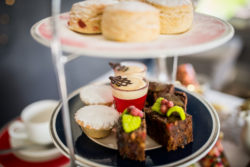 an image showing our tray of deserts and cakes