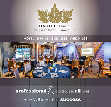 An image showing a cover of the Bartle Hall Business Brochure