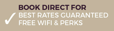 book direct for best rates guaranteed, free wifi and perks